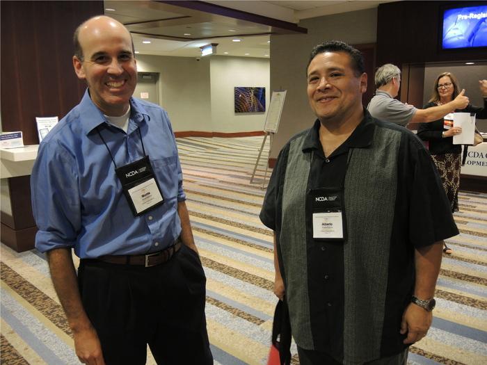 Alberto Puertas and colleague