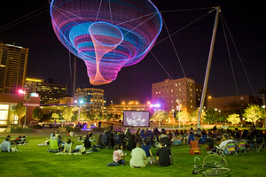 Copyright Visit Phonix Civic Space Park At Night