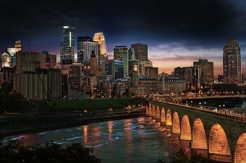 Stone Arch Bridge Minneapolis Skyline Credit Photo By Dan Anderson Courtesy Of Meetminneapolis Medium